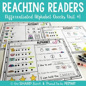 Guided Reading Comprehension Alphabet Checks