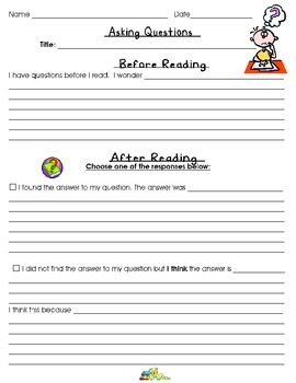 Comprehension- Asking Questions Before Reading/ Inferring