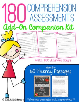 180 Comprehension Assessments: Add-On Kit for Fluency Passages (sold separately)