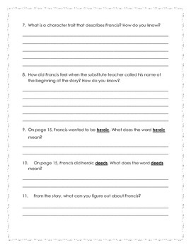 Comprehension Assessment: Drill Down (DRA 20, Fiction)