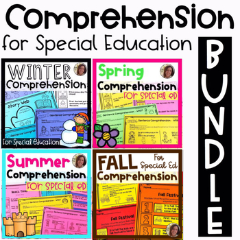 Comprehension BUNDLE for Special Ed | Special Education and Autism Resource