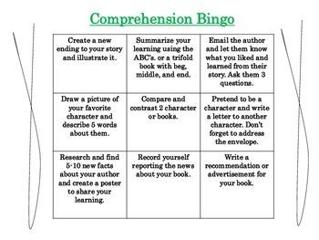 Comprehension Bingo