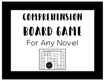 Comprehension Board Game For Any Novel