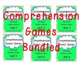 Reading Wonders Grade 2 Comprehension Board Games BUNDLE