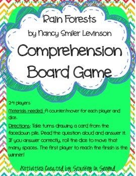 Reading Wonders Companion Grade 2 Unit 4 Comprehension Board Games