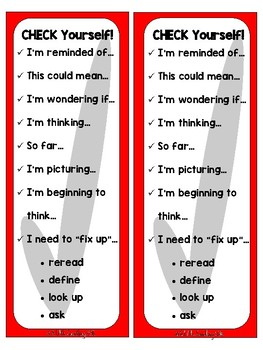 Comprehension Bookmark