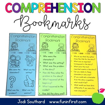 Comprehension Bookmark FREEBIE