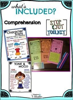 Comprehension Bookmarks & Posters  STOP & JOT