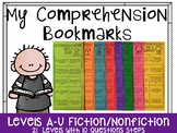 Comprehension Bookmarks for Reading Levels