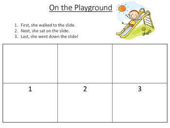 Comprehension Building Sequencing Mats for Special Education