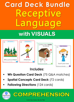 Comprehension Card Deck BUNDLE: with VISUALS