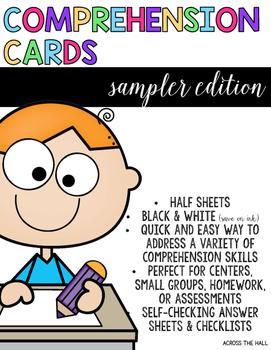 Comprehension Cards FREEBIE