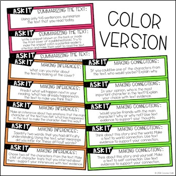 Comprehension Cards - Guided Reading (Fiction Ask It!)