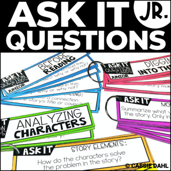 Comprehension Cards - Guided Reading (Fiction Ask It!) JUNIOR EDITION