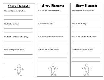 Comprehension Cards: Story Elements