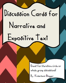 Comprehension Cards for Narrative and Expository Text