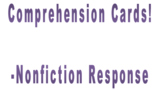 Comprehension Cards-nonfiction stories