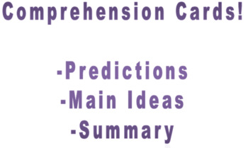 Comprehension Cards- set 1