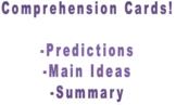 Comprehension Cards- set 1