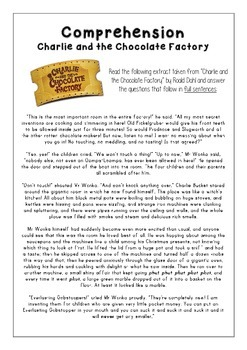 Comprehension - Charlie and the Chocolate Factory