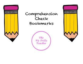 Comprehension Check Bookmarks