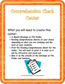 Comprehension Check Center