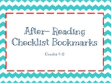 After-Reading Comprehension Checklist Bookmark
