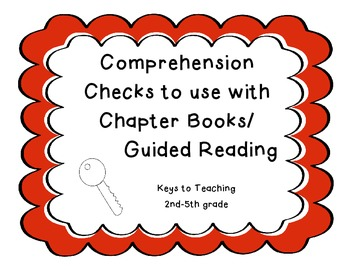Daily Comprehension Checks for Chapter Books and Guided Reading