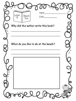 Nonfiction Comprehension Checks for Reading A-Z Books Levels A-E