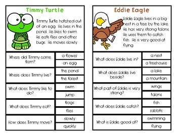 Comprehension Clip Cards: Wild Animals