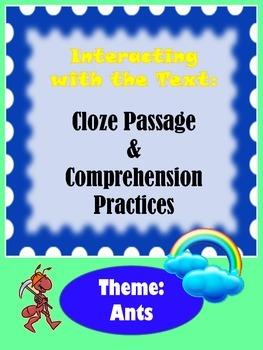 Comprehension & Cloze Passage Practices (Non-Fiction Text: Ants)