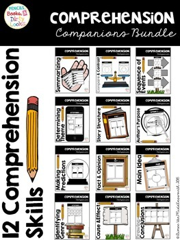 Comprehension Companion Bundle: Graphic Organizers for 12