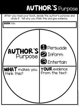 Comprehension Companion for Author's Purpose