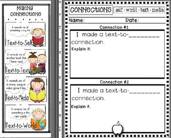 Comprehension Connection Bookmarks & Response