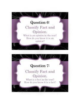 Comprehension Conversation Questions for NonFiction Texts