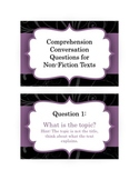Comprehension Conversation Questions for NonFiction Texts