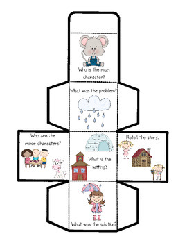 Comprehension Cube for Rockin' Readers