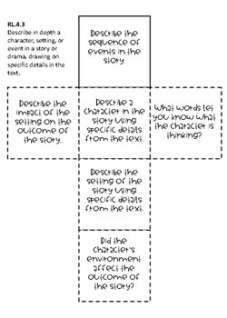 4th Grade Comprehension Cubes for Reading Literature - Common Core Standards