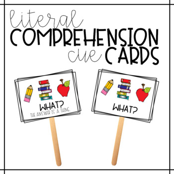 Comprehension Cue Cards