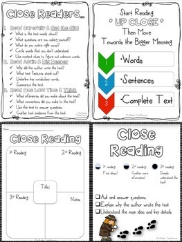 Close Reading ~ Using Text Evidence ~ Comprehension Unit ~ Test PREP ~ RTI