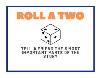 Comprehension Dice Game (Reading Rotation)