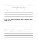 """Comprehension/Discussion Activity for """"Martin's Big Words"""" by Doreen Rappaport"""