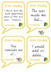 Comprehension Discussions - After Reading Sentence Starters