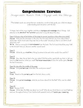 Comprehension Exercises for Imagination Station