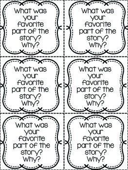 Comprehension Exit Slips (for any book)