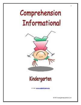 Comprehension - Expository - Kindergarten: Introduce/Practice/Assess