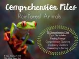 Comprehension Files - Rainforest Animals