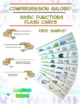 Comprehension Flash Cards for Basic Functions