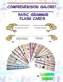 Comprehension Flash Cards for Basic Grammar