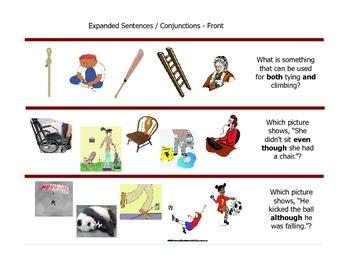 Comprehension Flash Cards for Sentence Comprehension